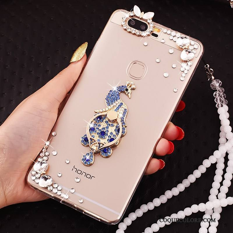 Étui Huawei P9 Plus Silicone Transparent Incassable, Coque Huawei P9 Plus Protection Anneau Ornements Suspendus