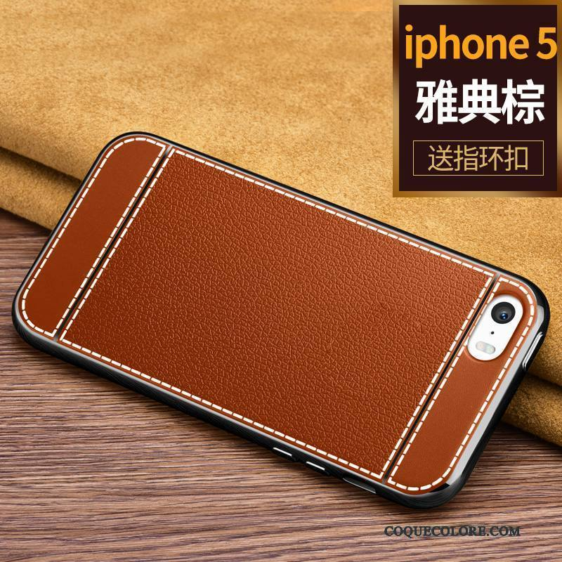 Étui iPhone Se Protection Incassable Noir, Coque iPhone Se Sacs De Téléphone Simple