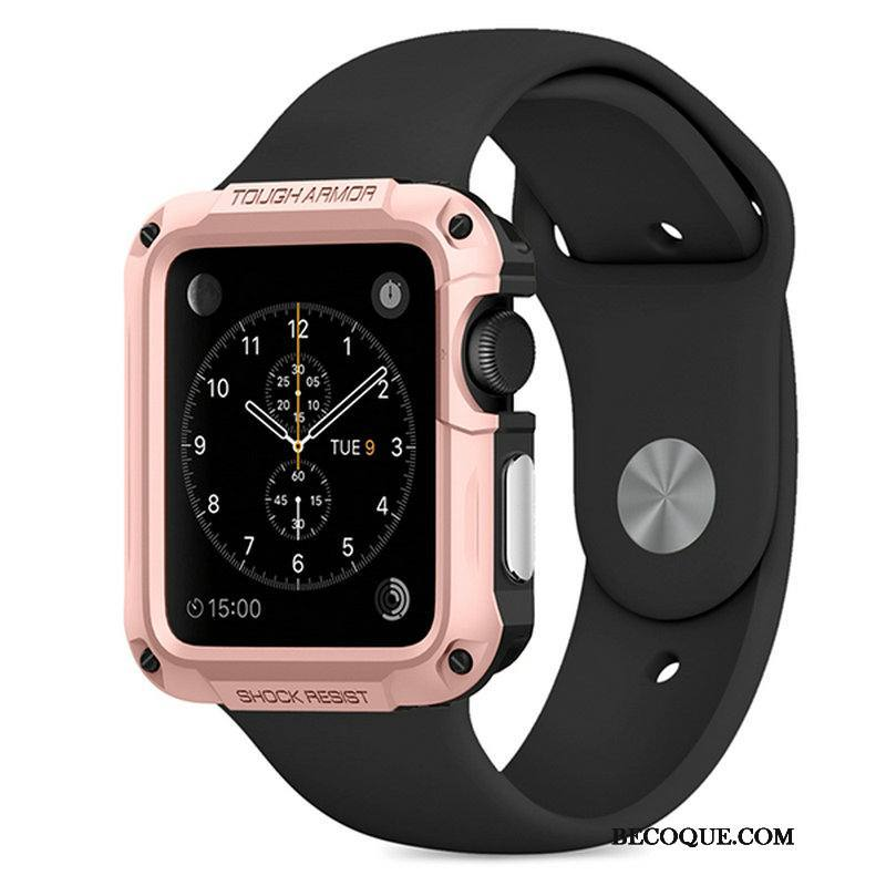 Étui Apple Watch Series 3 Protection Outdoor Sport, Coque Apple Watch Series 3 Or Rose