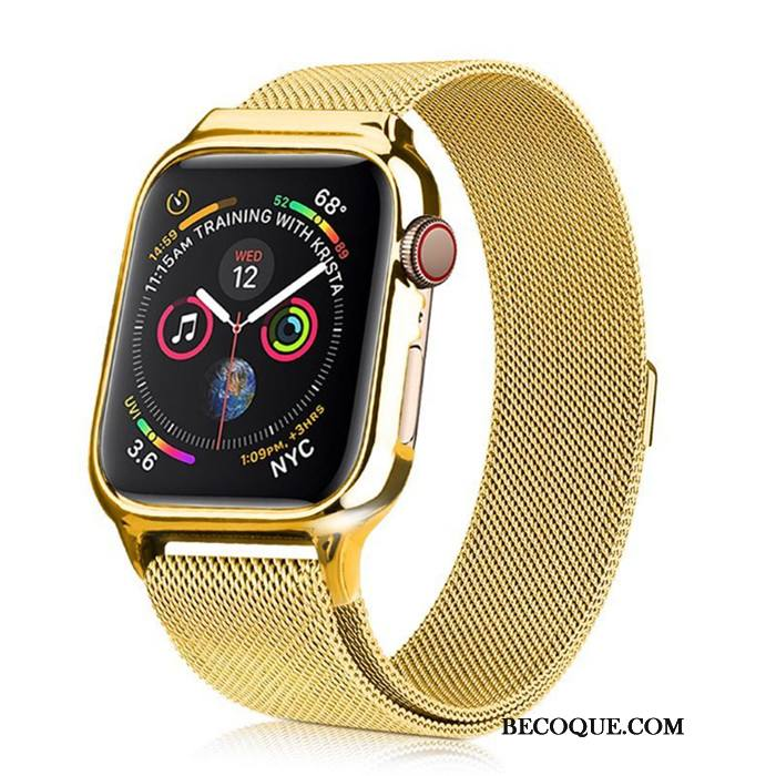 Étui Apple Watch Series 3 Sacs Or, Coque Apple Watch Series 3 Protection