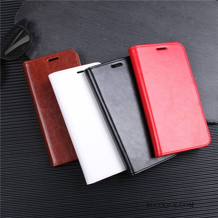 Étui Huawei Mate 20 Cuir Rougede Téléphone, Coque Huawei Mate 20 Protection