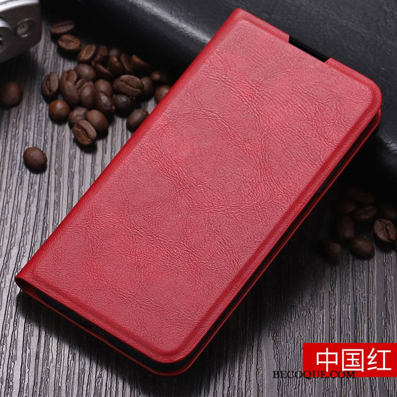 Étui Huawei P40 Lite Sacs Rouge Business, Coque Huawei P40 Lite Protection Incassable Style Chinois