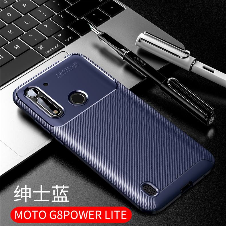 Étui Moto G8 Power Lite Silicone Business Simple, Coque Moto G8 Power Lite Fluide Doux Incassable Délavé En Daim