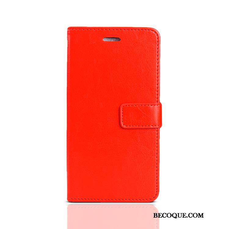 Étui Nokia 5.1 Plus Fluide Doux Rouge Grand, Coque Nokia 5.1 Plus Cuir Ornements Suspendus Incassable