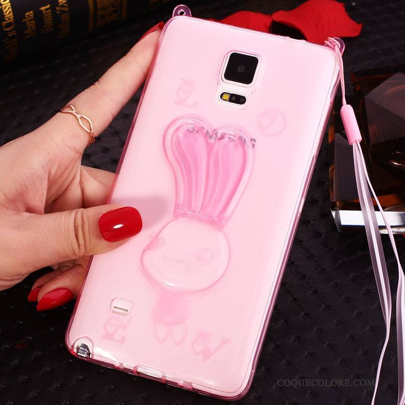 Étui Samsung Galaxy Note 4 Protection Ornements Suspendus Rose, Coque Samsung Galaxy Note 4 Silicone