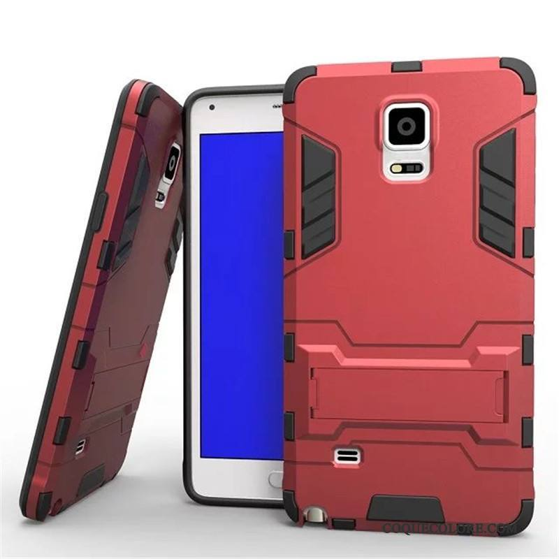 Étui Samsung Galaxy Note 4 Support Rouge Incassable, Coque Samsung Galaxy Note 4 Protection