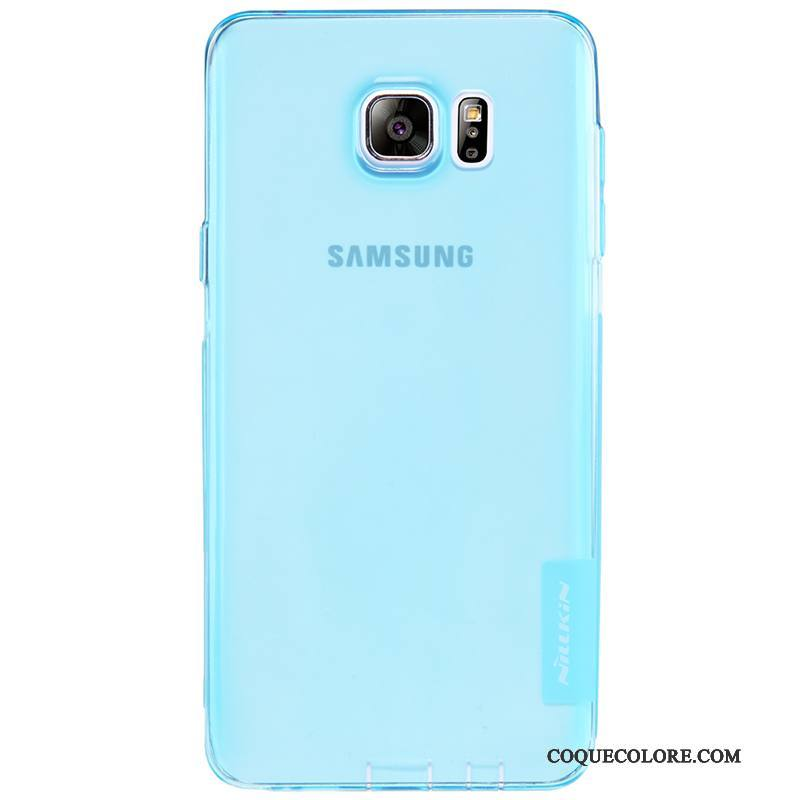 Étui Samsung Galaxy Note 5 Fluide Doux Or Bleu, Coque Samsung Galaxy Note 5 Protection Transparent