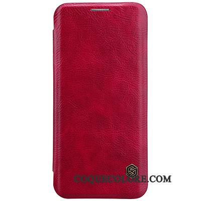 Étui Samsung Galaxy S8+ Protection Or Business, Coque Samsung Galaxy S8+ Cuir Vin Rouge