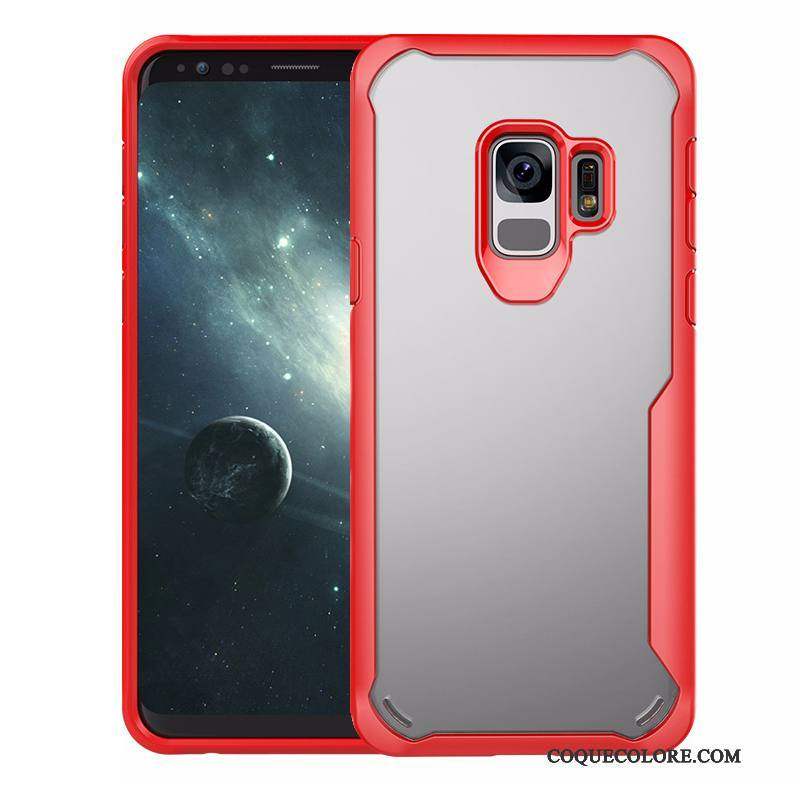 Étui Samsung Galaxy S9 Sacs Rouge Transparent, Coque Samsung Galaxy S9 Fluide Doux Ballon Incassable