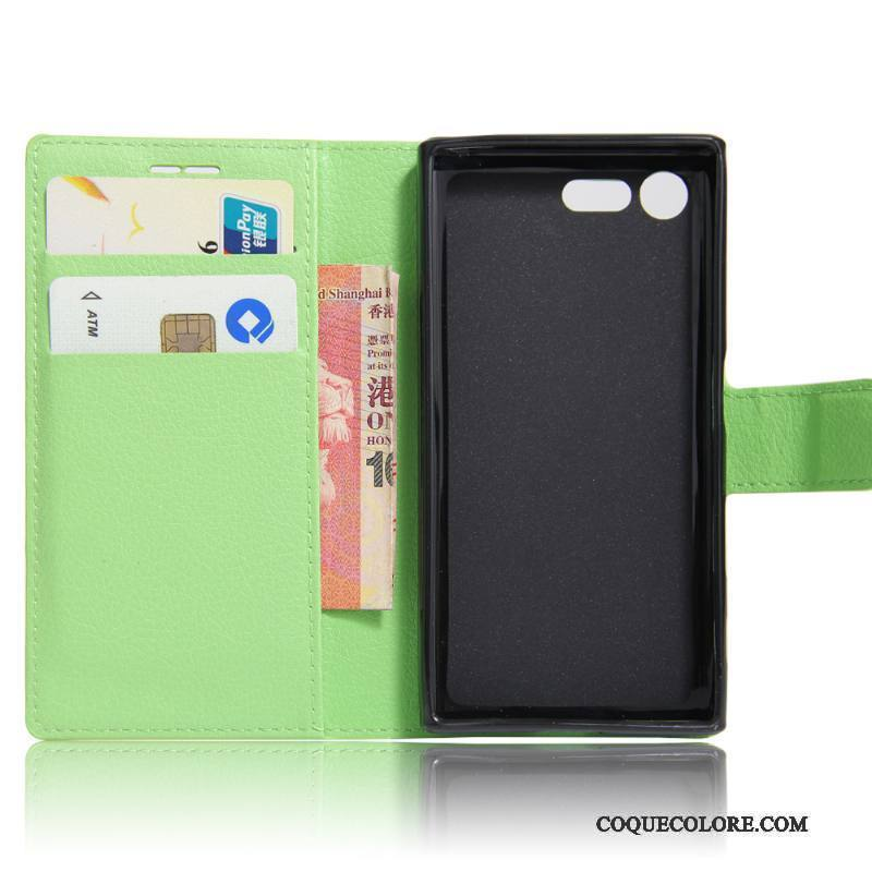 Étui Sony Xperia X Compact Cuir Vert, Coque Sony Xperia X Compact Protection