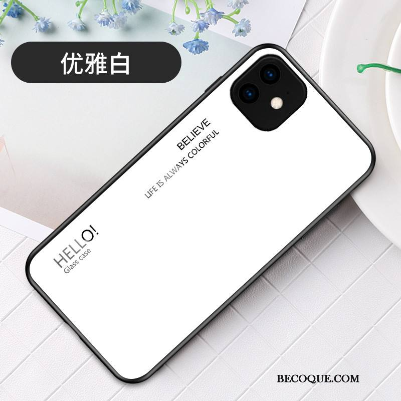 Étui iPhone 11 Protection Incassable Dégradé, Coque iPhone 11 Créatif Simple Tendance
