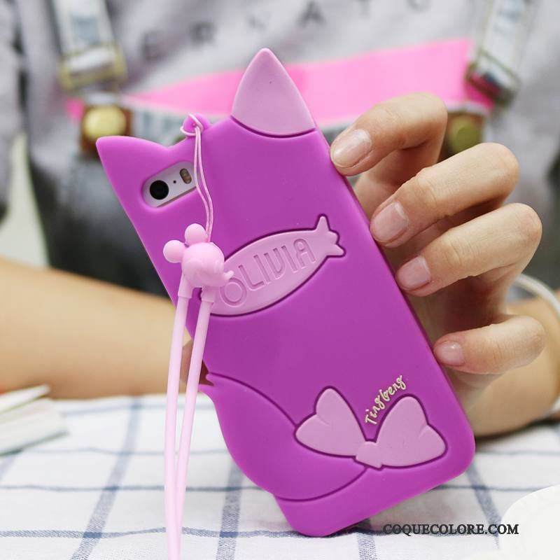 Étui iPhone 5c Dessin Animé Gris Incassable, Coque iPhone 5c Sacs Violet Ornements Suspendus