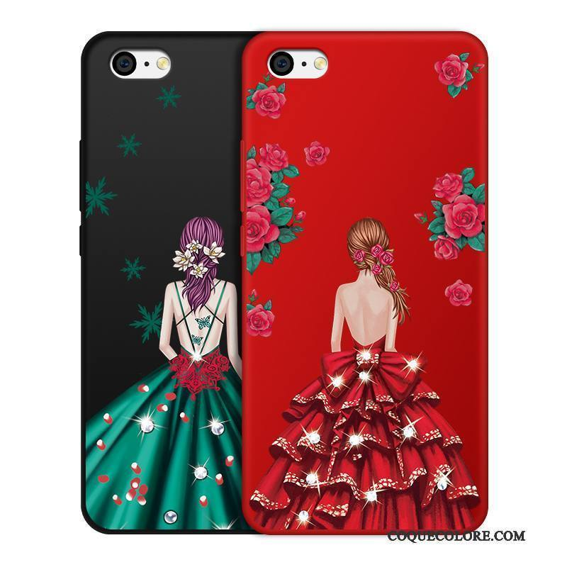 Étui iPhone 5c Fluide Doux Incassable Ornements Suspendus, Coque iPhone 5c Protection Rouge Noir