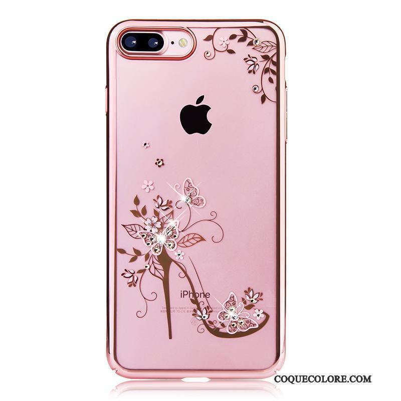 Étui iPhone 7 Strass Rose Or, Coque iPhone 7 Luxe Nouveau Difficile