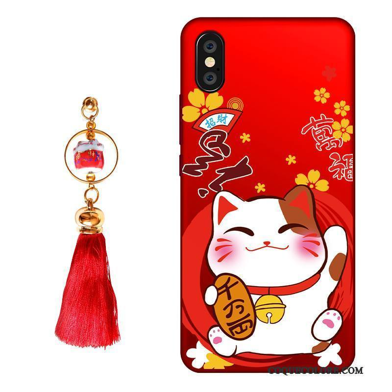 Étui iPhone X Silicone Nouveau Richesse, Coque iPhone X Sacs Incassable Chat